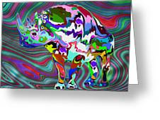 Rhino - Abstract 2 Greeting Card by Jack Zulli
