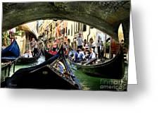 Rhythm Of Venice Greeting Card by Jennie Breeze