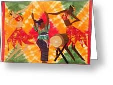 Rhythms Greeting Card by Aisha Lumumba