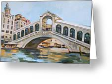 Rialto Bridge Greeting Card by Filip Mihail