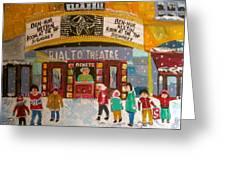 Rialto Theatre 1960 Greeting Card by Michael Litvack