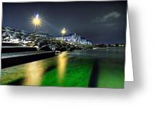 Green Waters Greeting Card by EXparte SE