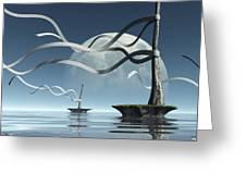 Ribbon Island Greeting Card by Cynthia Decker