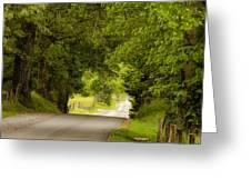 Ribbon Road Greeting Card by Andrew Soundarajan