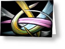 Ribbons Greeting Card by William  Paul Marlette
