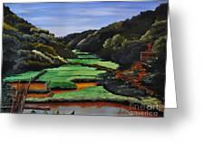 Rice Valley Acrylic Greeting Card by Ana Lusi