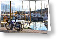 Ride To The Marina Greeting Card by Galexa Ch