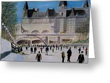 Rideau Canal Winterlude Greeting Card by John Lyes