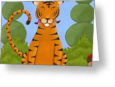 Riding a Tiger Greeting Card by Christy Beckwith
