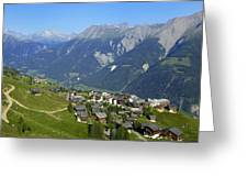 Riederalp Valais Swiss Alps Switzerland Greeting Card by Matthias Hauser