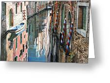 Riflessi Colorati A Venezia Greeting Card by Guido Borelli