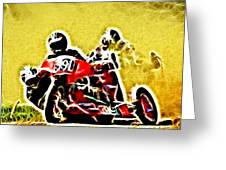 Right Hand Sidecar Outfit Greeting Card by Sharon Lisa Clarke