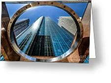 Ring Of Trust - Wells Fargo Plaza Greeting Card by Dee Zunker