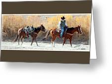 Rio Grande Cowboy Greeting Card by Barbara Chichester
