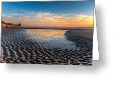 Ripples In The Sand Greeting Card by Debra and Dave Vanderlaan