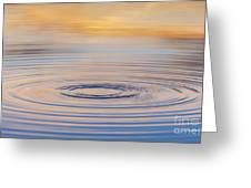 Ripples On A Still Pond Greeting Card by Tim Gainey