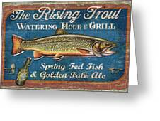 Rising Trout Sign Greeting Card by JQ Licensing