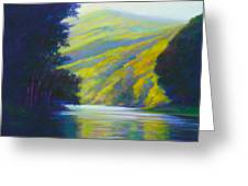 River Bend Greeting Card by Ed Chesnovitch