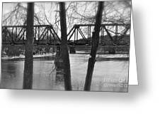 River Bridge Greeting Card by Jonathan Brown