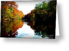 River Calm Greeting Card by Lisa Vander Ark
