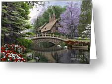 River Cottage Greeting Card by Dominic Davison