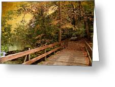 River Crossing Greeting Card by Jessica Jenney