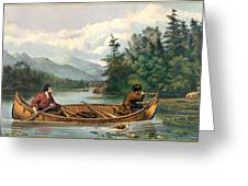 River Hunting Greeting Card by Gary Grayson