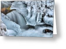 River Ice Greeting Card by Chad Dutson