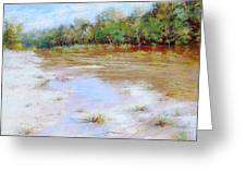 River Nature Landscape Greeting Card by Nancy Stutes