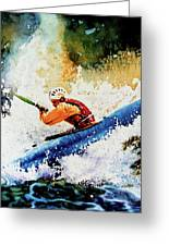 River Rush Greeting Card by Hanne Lore Koehler