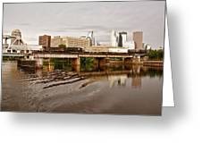 River Structures13 Greeting Card by Susan Crossman Buscho