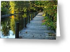 River Walk In Traverse City Michigan Greeting Card by Terri Gostola