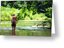 River Walk Greeting Card by Tamara Gentuso