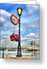 Riverboat Lamp Greeting Card by Mel Steinhauer