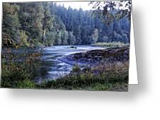Riverflow At Dusk Greeting Card by Belinda Greb