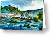 Riverscape Greeting Card by Ayse Deniz