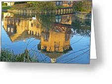 Riverside Homes Reflections Greeting Card by Gill Billington