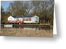 Riverside Retreat Greeting Card by Mark Severn