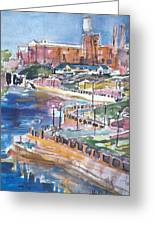 Riverwalk Greeting Card by Helen Lee