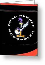 Road Runner Superbird Emblem Greeting Card by Jill Reger