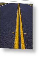 Road Stripe  Greeting Card by Garry Gay