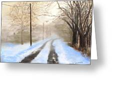 Road To The Ice House Greeting Card by Jack Skinner