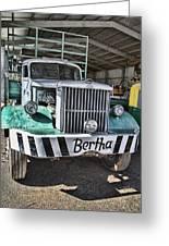 Road Train Bertha Greeting Card by Douglas Barnard