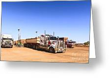 Road Trains Refuelling Greeting Card by Colin and Linda McKie