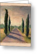 Roadway To Somewhere Greeting Card by Logan Gerlock