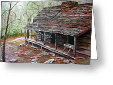 Roaring Fork Cabin Greeting Card by Sherry Robinson