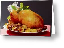Roast Turkey Greeting Card by The Irish Image Collection