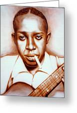 Robert Johnson Greeting Card by Mike Underwood