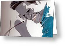 Robert Pattinson 48a Greeting Card by Audrey Pollitt