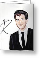 Robert Pattinson 64a Greeting Card by Audrey Pollitt